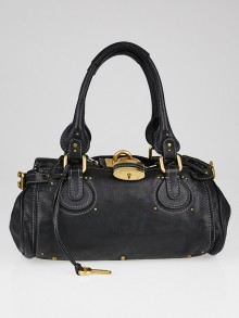 Chloe Black Leather Medium Paddington Satchel Bag