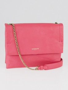 Lanvin Bright Pink Quilted Lambskin Leather Mini Sugar Bag