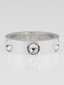 Louis Vuitton 18K White Gold Emprient Ring Size 4.25/47