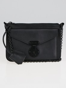 Celine Black Calfskin Leather Small Envelope Crossbody Bag