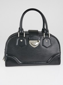 Louis Vuitton Black Epi Leather Bowling Montaigne GM Bag