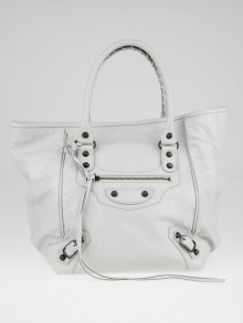 Balenciaga Gris Glace Lambskin Leather Sunday S Tote Bag