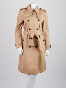 Gucci Beige Cotton Trench Coat Size 8/42