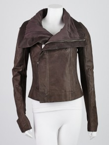 Rick Owens Koolaid Leather Biker Jacket Size 8/42