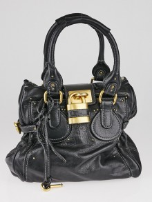 Chloe Black Leather Paddington Tote Bag