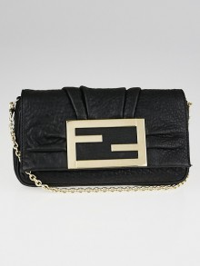 Fendi Black Leather Mia Pochette Bag
