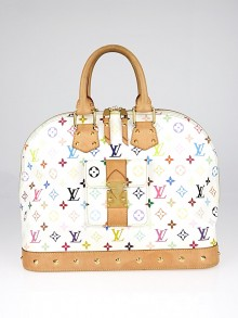 Louis Vuitton White Monogram Multicolore Alma GM Bag