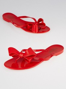 Valentino Red Couture Bow Thong Sandals 9.5/40