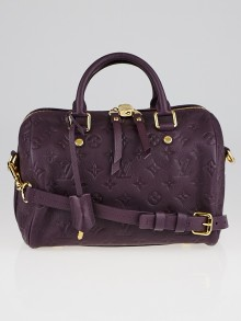 Louis Vuitton Aube Monogram Empreinte Leather Speedy 25 Bandouliere Bag