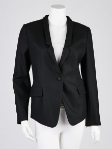 Gucci Black Wool Blend Blazer Jacket Size 6/40