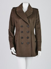 Burberry Prorsum Brown Wool/Cashmere Coat Size 10/44