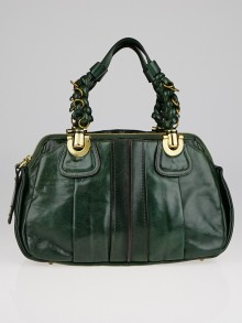 Chloe Green Lambskin Leather Small Heloise Bag
