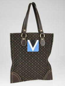 Louis Vuitton Ebene Monogram Canvas Mini Lin Sac Plat Cup Bag