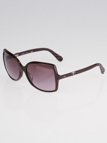 Chanel Red Print Frame Square CC Sunglasses-5245