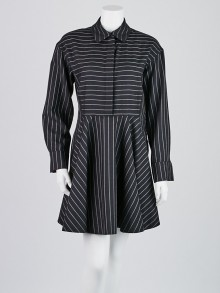 Stella McCartney Black/White Striped Swing Dress Size 8/42