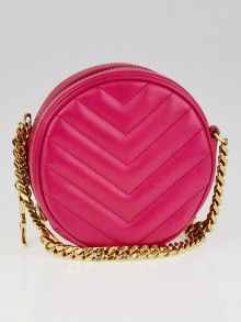Yves Saint Laurent Pink Matelasse Leather Small Bubble Bag