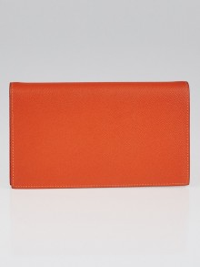 Hermes Orange Epsom Leather Vision II Agenda Cover