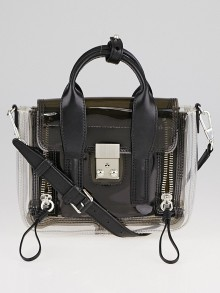 3.1 Phillip Lim PVC and Black Leather Mini Pashli Bag