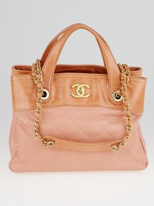 Chanel Tan Quilted Leather In-the-Mix Small Tote Bag