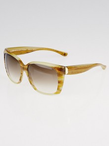 Balenciaga Beige Resin Square Frame Gradient Tint Sunglasses-0081/S