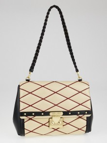 Louis Vuitton Naturel Lambskin Leather Malletage Pochette Flap Bag