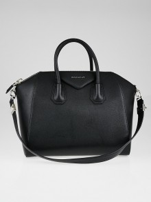 Givenchy Black Sugar Goatskin Leather Medium Antigona Bag
