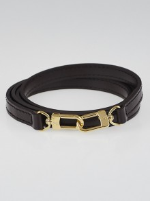 Louis Vuitton 12mm Chocolate Leather Shoulder Strap