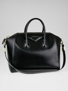 Givenchy Black Box Leather Medium Antigona Bag