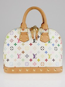 Louis Vuitton White Monogram Multicolore Alma PM NM Bag