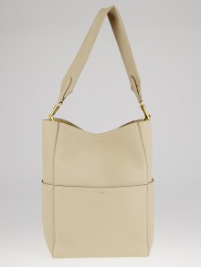 Celine Dune Goatskin Leather Medium Sangle Seau Bag