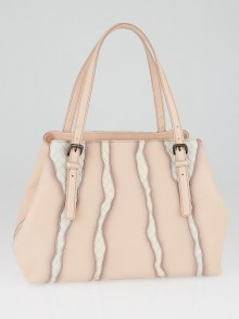 Bottega Veneta Flamingo Intrecciato Leather Medium Glimmer Tote Bag