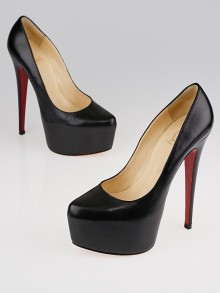 Christian Louboutin Black Leather Daffodile 160 Pumps Size 6.5/37
