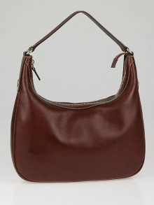 Gucci Cognac Calfskin Leather Hobo Bag
