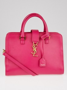 Yves Saint Laurent Pink Smooth Calfskin Leather Small Monogram Cabas Bag