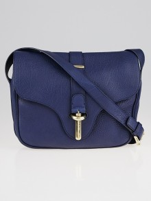Balenciaga Blue Mineral Leather Tube S Crossbody Bag