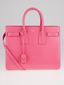 Yves Saint Laurent Pink Smooth Calfskin Leather Small Sac de Jour Tote Bag