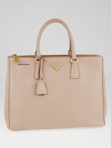 Prada Cammeo Saffiano Lux Leather Double Zip Large Tote Bag BN1786