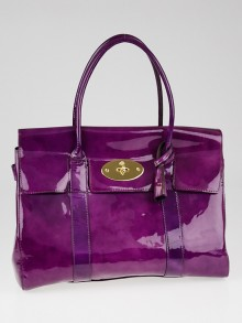 Mulberry Violet Patent Leather Bayswater Bag