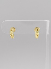 David Yurman 18k Yellow Gold Labyrinth Earrings