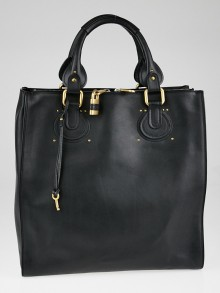 Chloe Black Leather Aurore Pure Paddington Tote Bag