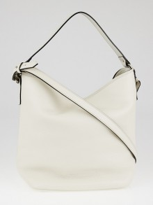 Burberry White Leather Bucket Bag