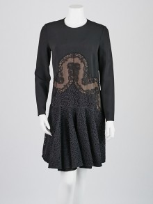 Stella McCartney Black Lace Long-Sleeve Dress Size 8/42