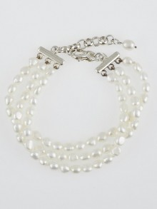 Tiffany & Co. Freshwater Pearls and Sterling Silver Three-Strand Bracelet