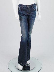 Gucci Blue Denim Skinny Flare Jeans Size 10/44