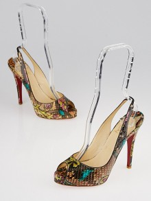 Christian Louboutin Batik Python No Prive 120 Pumps Size 6.5/37