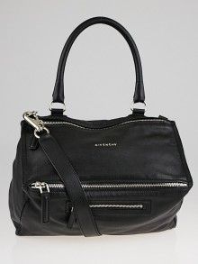 Givenchy Black Sugar Goatskin Leather Medium Pandora Bag