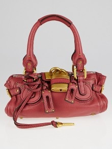 Chloe Red Leather Paddington Mini Satchel Bag