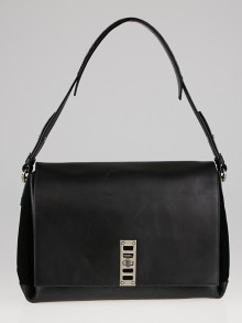 Proenza Schouler Black Leather Elliot Shoulder Bag