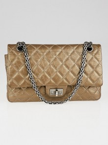 Chanel Bronze 2.55 Reissue Quilted Classic Calfskin Leather 225 Flap Bag