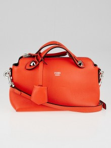 Fendi Orange Calfskin Leather Mini By the Way Bag 8BL135